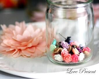 Bridesmaids Earrings - Cutie Petite Rose Stud Earrings Post - Choose your color