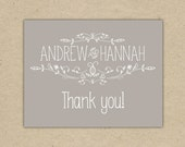 Thank You Card - wedding thank you, friendship, anniversary, birthday, just because.