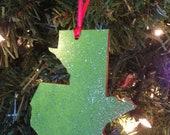 Guatemala Green Glitter Ornament for Adoption