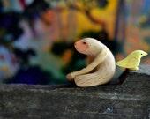 sloth pet - mini sloth sculpture set