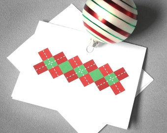 Printable greeting cards and art by redletterpaperco on etsy printable holiday card digital christmas card argyle instant download printable digital christmas solutioingenieria Gallery