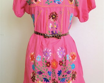 Vintage Mexican Peasant Dress/Blouse