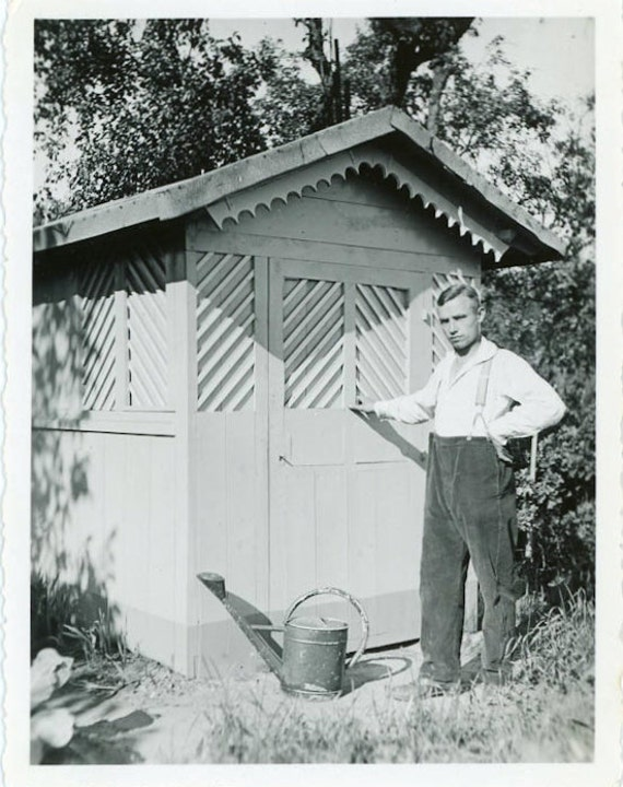 """Vintage Photo """"Day in the Garden"""", Photography, Paper Ephemera, Antique, Snapshot, Old Photo, Collectibles - 0079"""
