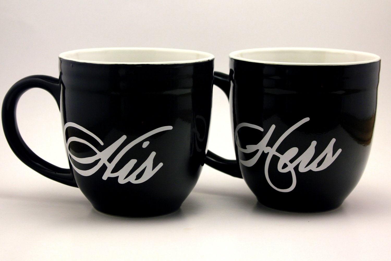 his hers coffee mug glass customized. Black Bedroom Furniture Sets. Home Design Ideas
