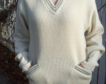 Old School Boyfriend Sweater By Campus