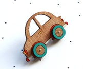 Wooden Laser Cut Car Brooch
