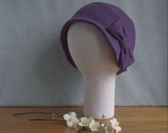 MADE TO MEASURE Extra Large Cloche Hat with Big Bow