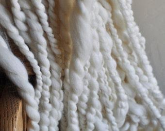 "Super Bulky Thick Yarn ""Rapunzel"" Cream undyed merino wool silky soft knitting supplies Crochet Supplies"