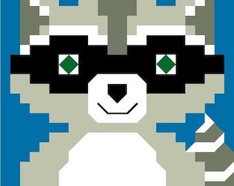 Raccoon Baby Quilt Pattern - PDF