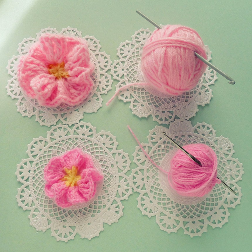 Easy Crochet Flower Pattern For Beginners Dancox For