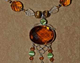 Topaz Mandala Necklace Set