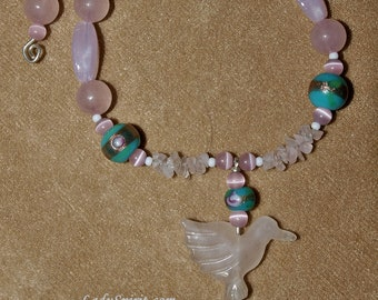 Hummingbird and Turquoise Bracelet Set