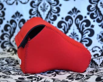 DSLR Camera Case - Red / Black Neoprene