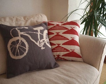 Cruiser Bike Cross Stitch Pattern PDF Pillow Cover