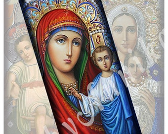 Digital Collage of  Holy Mother of God -  30 1x2 Inch JPG images