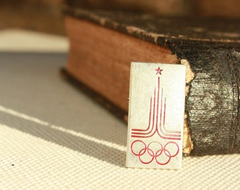 Olympics Games in Moscow 1980 - Logo pin badge Russian Symbols