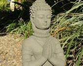 PRAYING BUDDHA STATUE Solid Stone Home & Garden Decor