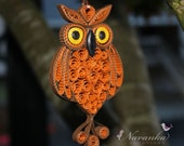 Owl Always love you - Paper Quilling Owl in a gift box , Paper Quilled Owl, Paper Anniversary
