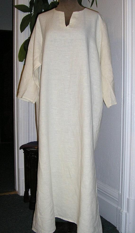 Viking Woman's Linen Kirtle/Under-Tunic
