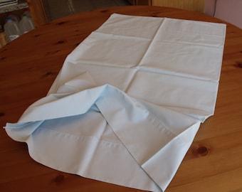 Sale 1 standard pillowcase, sham,19 1/2 x 31 in. vintage ,light blue,50 cotton/50 polyester Stevens. dorm
