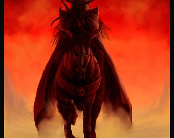 The vampire hunter D print (does not include frame or matte)