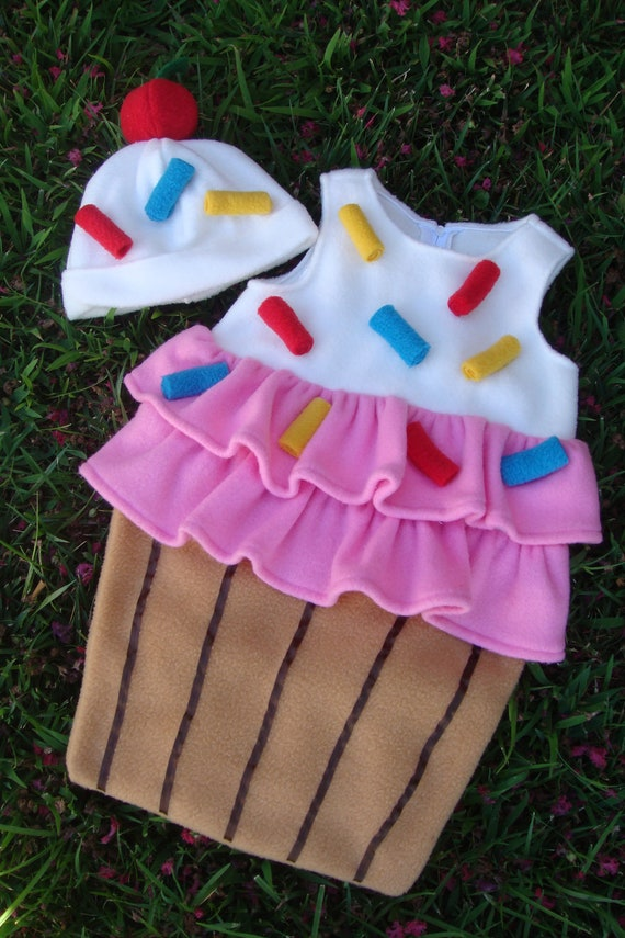 Baby Cupcake with Sprinkles costume - for Halloween or just as a photo-prop