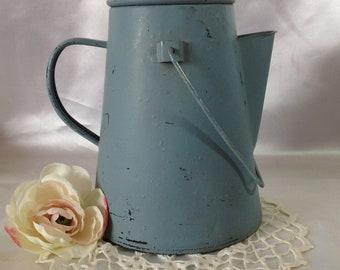 Baby Blue Camp Fire Coffee Pot TREASURY ITEM