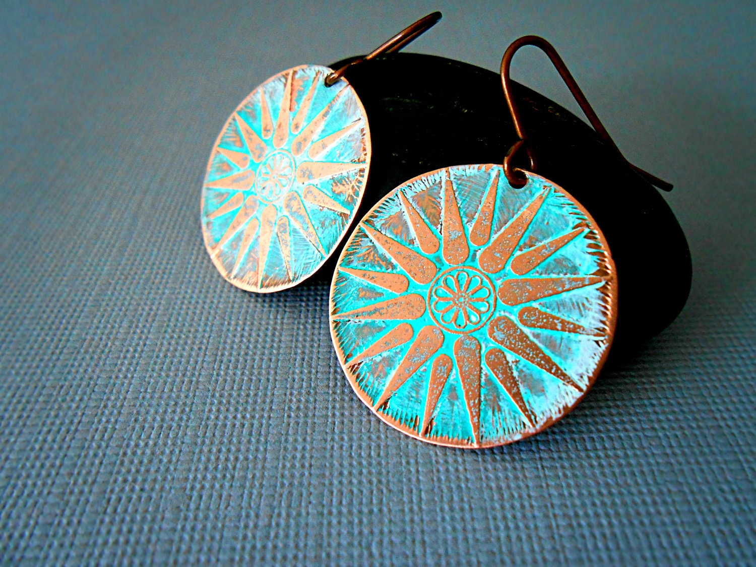etched copper jewellery