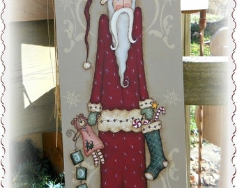 E PATTERN - Santa Joy - Olde Thyme Santa & Teddy Bear - New design - Terrye French and Sharon Bond - FAAP