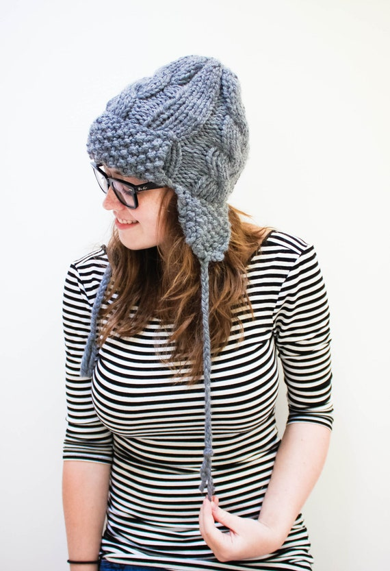 Knitting Pattern Russian Hat : Knit Russian Ear Flap Hat