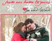 Tidings of Comfort and Joy 5x7 Printable Christmas/Holiday Printable Photo Card (you choose colors)