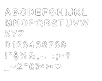 "Font ""Appliqué"" hand drawn digital typeface for your computer"