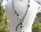 Turquoise & Precious Stone Necklace