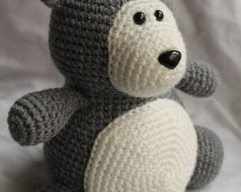 Winston the Wolf - Amigurumi Crochet Plush PATTERN ONLY (PDF)
