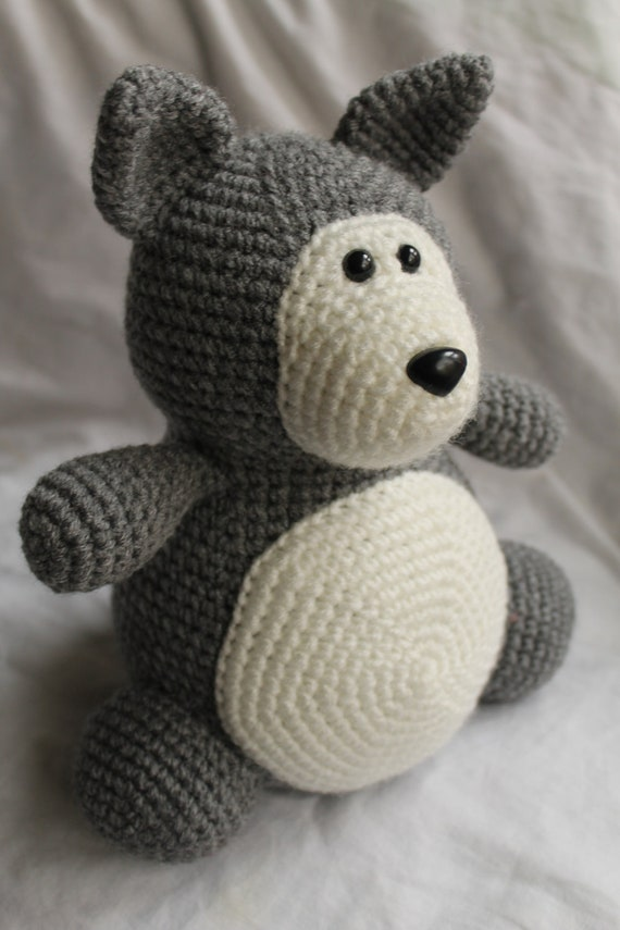 Winston the Wolf Amigurumi Crochet Plush PATTERN ONLY PDF