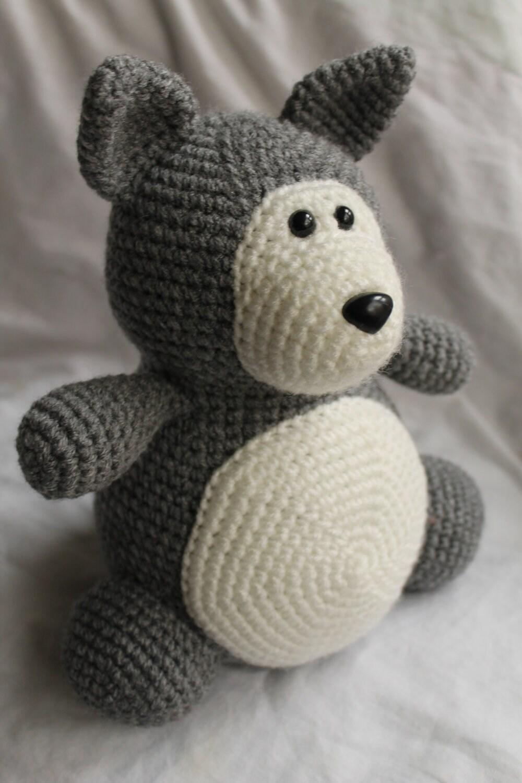 Crochet Amigurumi Wolf : Winston the Wolf Amigurumi Crochet Plush PATTERN ONLY PDF