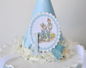 Peter Rabbit Birthday Party Hat, Special Occasion, Photo Prop