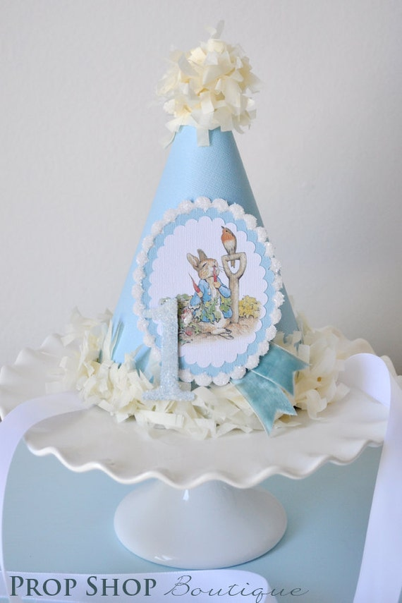 Peter Rabbit Birthday Party Hat Special Occasion Photo Prop