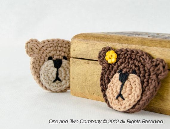Teddy Bear Applique Pdf Crochet Pattern Instant Download Etsy