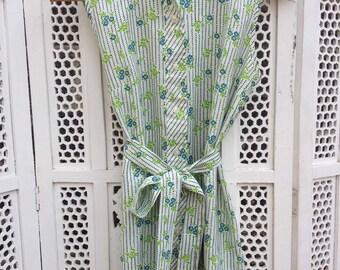 Button Up Flower Dress - S/M
