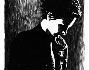 Matthew Bellamy portrait print