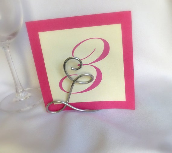 Items Similar To Letter Table Number Holder Wedding Reception Decor On Etsy