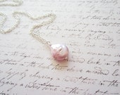 Light Pink Pearl Necklace, Pink Necklace, Pink Jewelry, Swedish Jewelry Design, Made in Sweden, Scandinavian Design