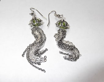 Aquamachine Jellyfish Earrings - Steampunk Jewelry, Science Jewelry, Geekery, Custom Colors Available - Great Gift!