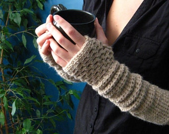 Crochet Pattern for Warm My Arms Slouch / Fingerless Mitt