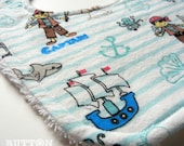 BABY BIB - Ahoy Matey   Pirate themed Baby Bib - Shower Gift - Baby Shower
