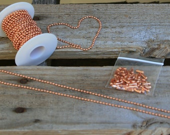 "Copper 18"" Bead Chain 2.4mm"