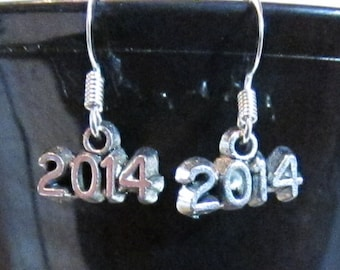 CLEARANCE   Silver Plated 2014 Earrings   CLEARANCE