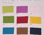 Bio-enzyme washed BIO-LINEN in 21 lovely shades, 1 m