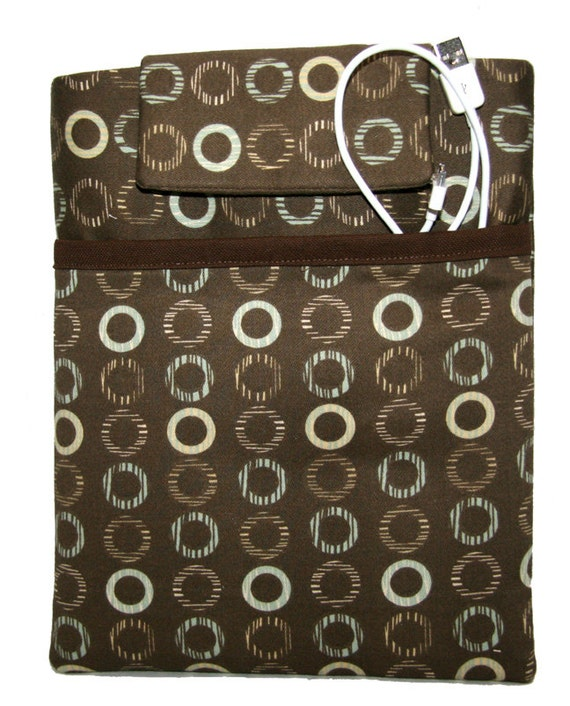 CLEARANCE 40% OFF iPad Case Sleeve 1 2 3 4  5 Air Cover Brown Circles Modern i Pad with pocket